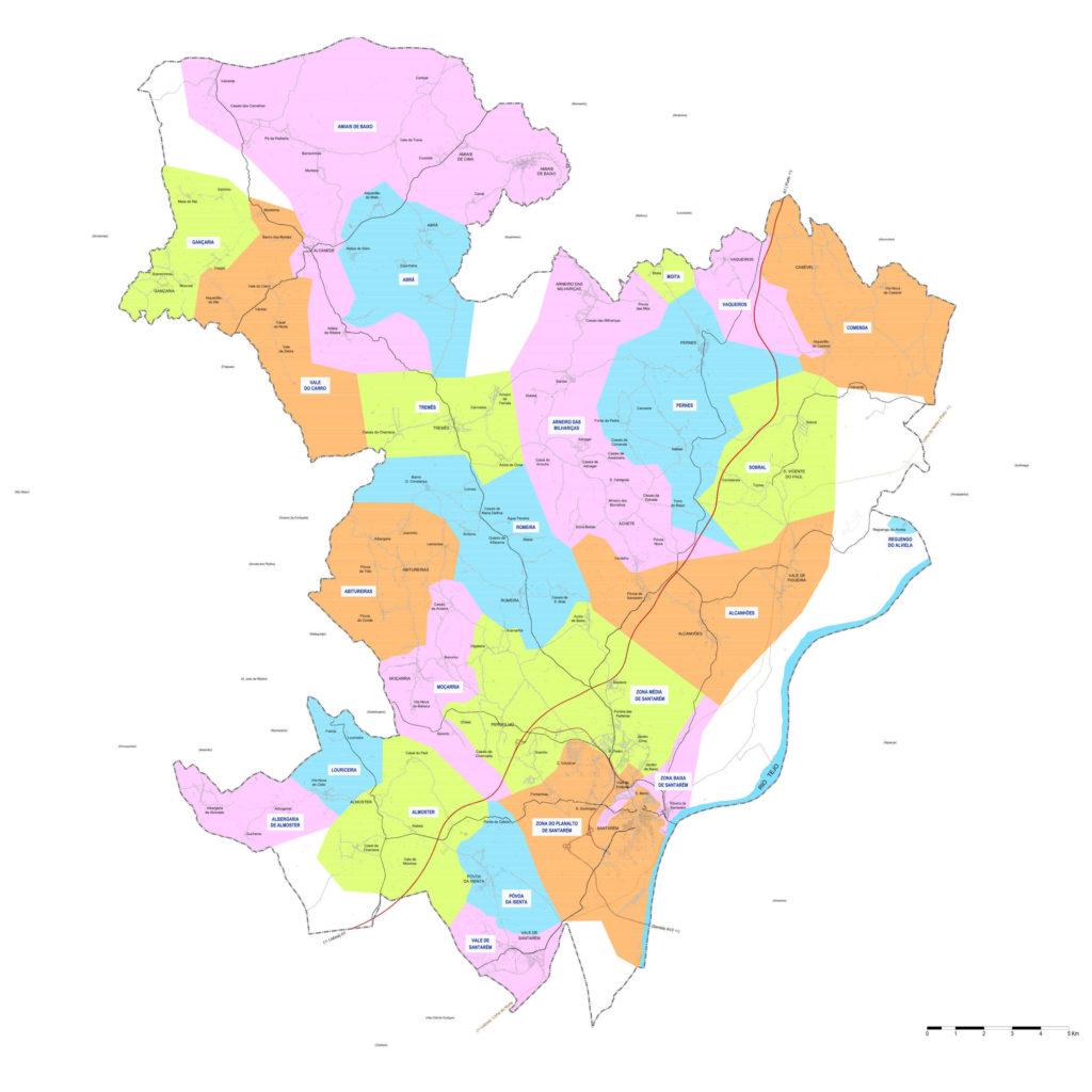Mapa de zonas de abastecimento